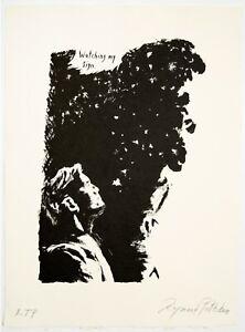 Raymond Pettibon: Untitled (Watching My Sign..) 2018. Signed, Numbered Art Print