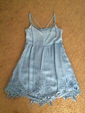 NWOT Abercrombie Fitch Light Blue Dress Lace Trim Size S