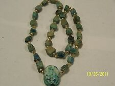 New listing Blue Scarab Necklace