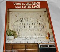 Macrame window dressings: curtains drapes valances shade  New vintage book