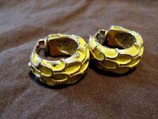 VIntage estate Bergere gold clip earrings COSTUME 1950s