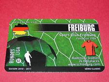 RARE FOOTBALL CARD FOOT2PASS 2010-2011 SC FREIBURG FUSSBALL BUNDESLIGA