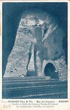 RHEIMS caves Ruinart escalier et grille des crayères Nicolas & Edmond champagne