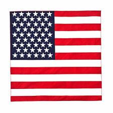 3 USA American Flag Bandannas 100% Cotton inches Bulk Wholesale Packs US Bandana