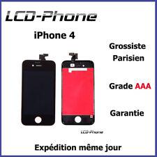 Ecran iPhone 4 Noir LCD + Vitre Tactile Sur Chassis Original✔ PRIX GROSSISTE✔