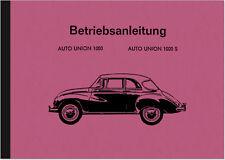 Auto Union 1000 S DKW Bedienungsanleitung Betriebsanleitung Handbuch User Manual