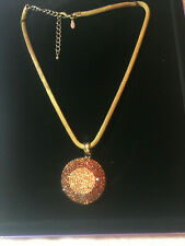 Dazzling Circular Pendant Suzanne Somers Necklace with