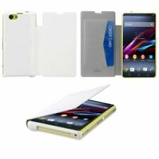 Roxfit Book Case View Folio Leather Wallet Flip Case For Sony Xperia Z1 Compact