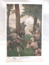Postkarte AK Soldaten Armee Argonnenwald Pickelhaube 1915 patriotisches Bild
