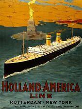 Stampa Pubblicità viaggi turismo HOLLAND AMERICA LINE Nave Oceano NEW YORK nofl0529