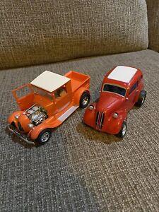 Vintage AMT 2 Anglia Ford Hot Rod Car Truck Model Kit Built Custom