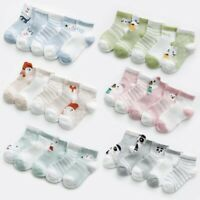 5 Pairs/lot Baby Socks Summer Mesh Breathable Cotton Infant Socks Kids Boys Girl