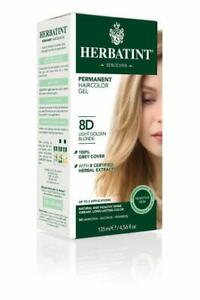 Herbatint Permanent Haircolor 8D Light Golden Blonde 135ml FREE Shipping