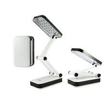 Lampara Led para Mesa Escritorio 24Led Luz de Noche Plegable Lectura USB o Pilas
