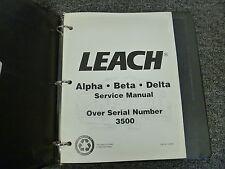 Leach Models Alpha Beta & Delta Rear Loaders Shop Service Maintenance Manual