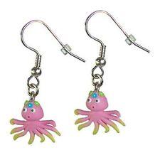 Ohrring Ohrringe mit Anhänger aus Fimo Tiere Tintenfisch Kinder Kinderohrrine