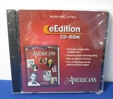 New eEdition The Americans v2.0 McDougal Littell Cd-Rom Windows/Mac Home School