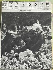 1957 Aveyron Conques Chapelle art print régionalisme