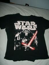 Star Wars T-shirt, ladies size L, black, 100% cotton, made in Honduras
