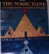 Vintage 1980s Magic Flute Wolfgang Amadeus Mozart Lyric Opera of Chicago Poster