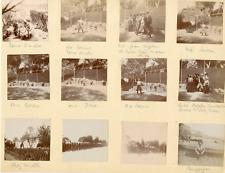 France, tennis etc..., 1898 Vintage silver print Tirage argentique  16x20