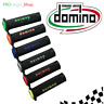 COPPIA MANOPOLE DOMINO SUPER SOFT GRIP FORATE MOTO PISTA 22/24 MM VARI COLORI