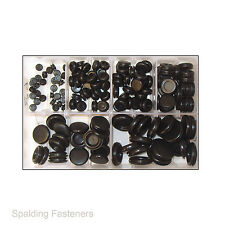 150 Assorted 6, 9, 12, 16, 20 & 25mm Rubber Closed Blind Blanking Grommets