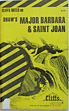 Cliffs Notes, Major Barbara & Saint Joan by Shaw, Cliff Notes Book
