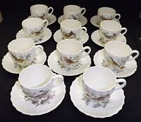Spode Copeland England American Birds 11 Cups & Saucers