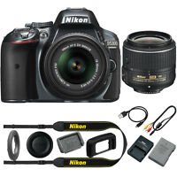 Nikon D5300 DX-Format Digital SLR Camera Kit w/ 18-55mm DX VR II Lens - Grey