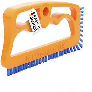 Tile Brush Grout Cleaning Hand Brushes Ergonomic Handle Cleaner Scrubber Orange