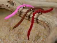 1 Doz Tungsten Bead San Juan Worm Nymph Fishing Flies - Mustad Signature Hook