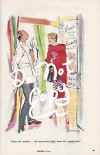Vintage 1950's Esquire Magazine Cartoon Ad by  Gilbert Bundy- Hair Stylist