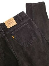 Levis 550 Vtg Relaxed Tapered Orange Tab Black Jeans Mens 38x32 (37X33) USA