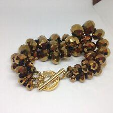 Ted Baker Bracelet Chunky Beads Gold Tbar Link
