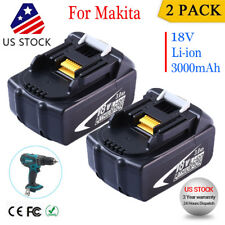 2-Pack Makita BL1830B-2 18-Volt LXT 3.0Ah Lithium-Ion Battery BL1850 BL1830 LXT