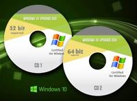 Windows 10 64-bit All Versions install reinstall recovery DVD Disc Support
