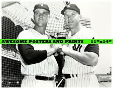 Vintage, Extremely RARE Roger Maris, Mickey Mantle Photograph (11x14)