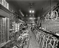 GLOSSY PHOTO PICTURE 8x10 1912 Bicycle Shop Detroit Michigan
