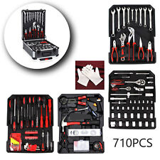 New 710pcs Professional Premium Carbon Tool Set Case Mechanics Kit Carry Trolley