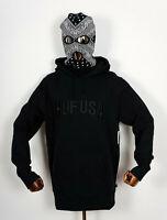 Huf Worldwide Hooded Hood Sweatshirt Sweat Hoodie Team Logo P/O Black in L