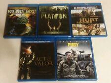 Full Metal Jacket, Platoon, Act of Valor, The Hurt Locker & Fury (Blu-ray)