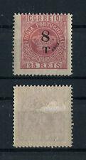 Portuguese India Portugal 1881 Crown Afinsa#107 FOURNIER FORGERY 8T/25r, FVF