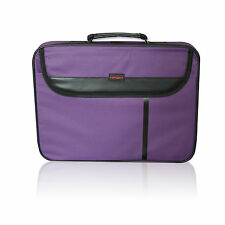 "15.6"" WIDESCREEN LAPTOP BAG NOTEBOOK CARRY CASE-SHOULDER STRAP COMPATIBLE PURPLE"