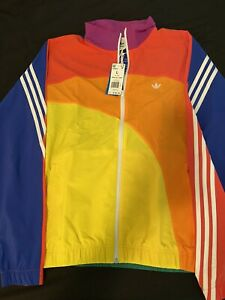 NWT Adidas Original Men's Large L Pride Rainbow Off-Center Jacket GD0955 trefoil