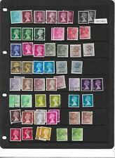 GB - mix of definitive decimal stamps - used