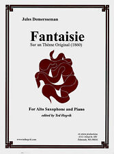 Fantaisie, for Alto Sax, by Jules Demersseman w/performance CD incl.