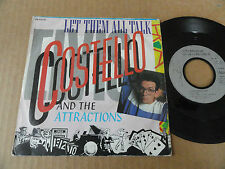 "DISQUE 45T DE ELVIS COSTELLO AND THE ATTRACTIONS  "" LET THEM ALL TALK """