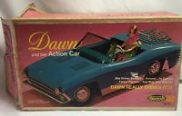 VINTAGE 1960'S TOPPER TOYS DAWN DOLL ACTION CAR For Parts Or Repair