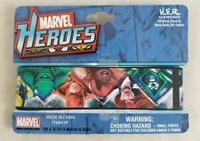"New Disney Marvel Heroes 1"" Rubber Bracelet Wristband Villains Hulk Spider-Man"